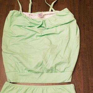 Venus tankini light green size 8 never worn
